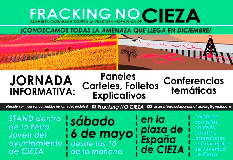 La Asamblea Ciudadana contra la Fractura Hidráulica estará presente en la Feria Joven de Cieza