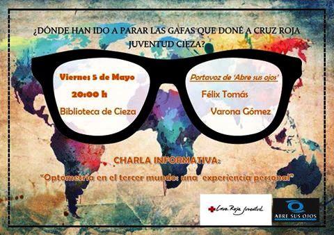 Charla informativa 'Optometría en el Tercer Mundo, una experiencia personal', organiza Cruz Roja Juventud de Cieza