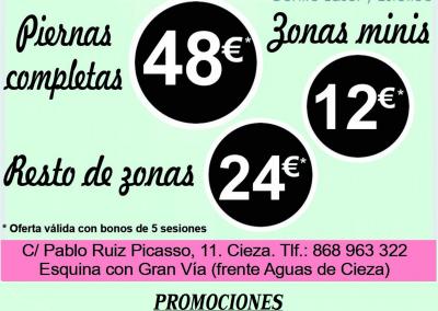 Imagen del Flyer promocional de Bellissima, Centro Estético y Láser en Cieza.