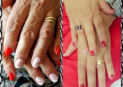 Foto de un Trabajo de uñas con esmalte permanente en Bellissima Cieza.