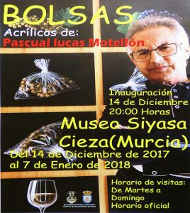 Exposición 'Bolsas' de Pascual Lucas Motellón en el Siyâsa @ Museo de Siyâsa, Cieza.