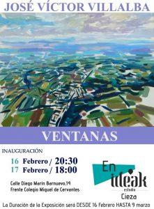 """Exposición """"Ventanas"""" del ciezano José Víctor Villalba en Ideak Estudio @ Sala Ideak Estudio."""