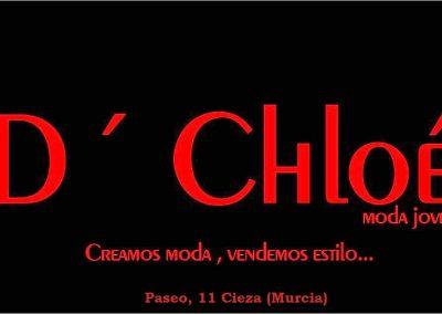 Imagen diseñada del logotipo de modas D´Chloe tienda de ropa en Cieza.