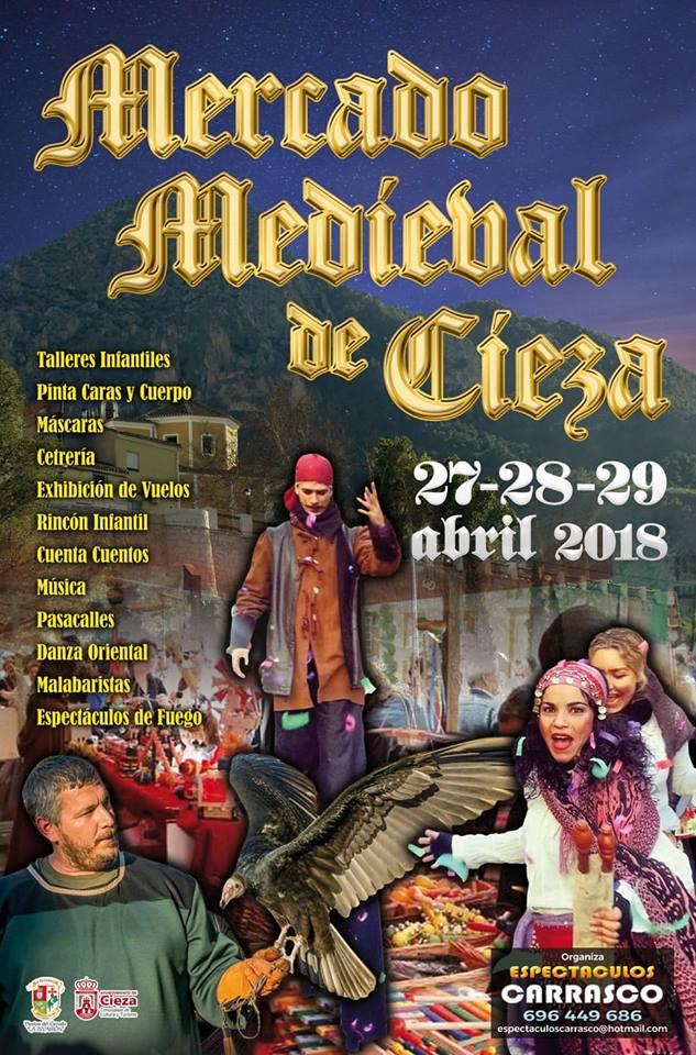 Foto del Cartel del Mercadillo Medieval, Fiestas del Escudo en Cieza.