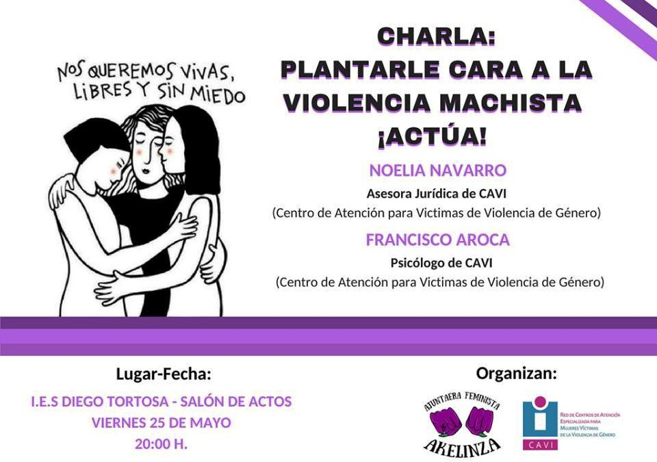 Charla: 'Plantarle Cara a la Violencia Machista' en el IES Diego Tortosa de Cieza