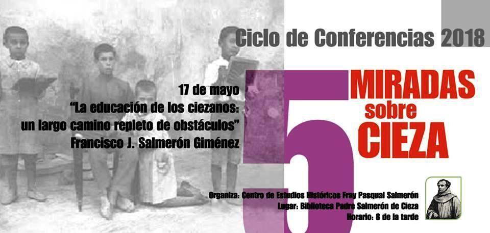 Conferencia 'La educación de los ciezanos: un largo camino repleto de obstáculos'