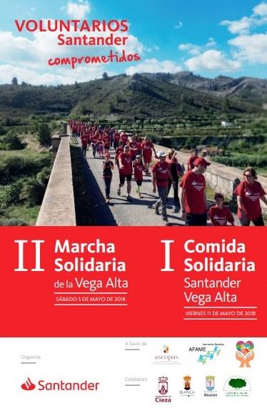 El Santander ha organizado la II Marcha Solidaria Vega Alta a beneficio de tres Asociaciones de Cieza, Abarán y Blanca