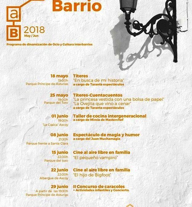 Actividades del programa 'Tírate al Barrio 2018'