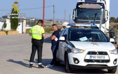 Detenido en Cieza por conducir un camión superando nueve veces la tasa de alcohol