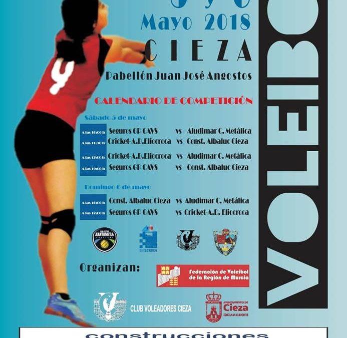 Fase Final Cadete Regional Femenina los días 5 y 6 de Mayo en Cieza