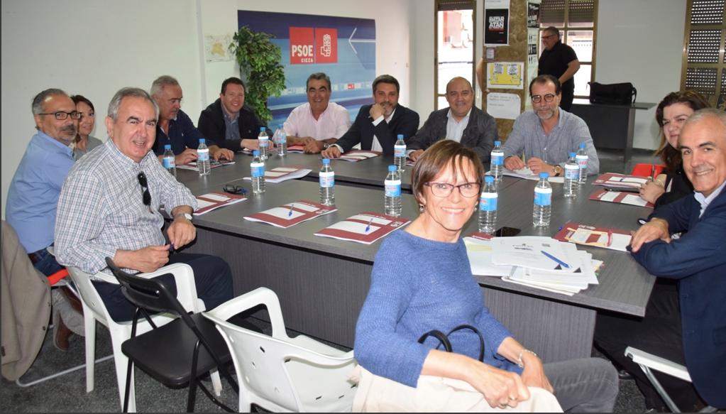 El Alcalde de Cieza recibe en Cieza a todos los alcaldes socialistas afectados por el fracking y a los diputados responsables