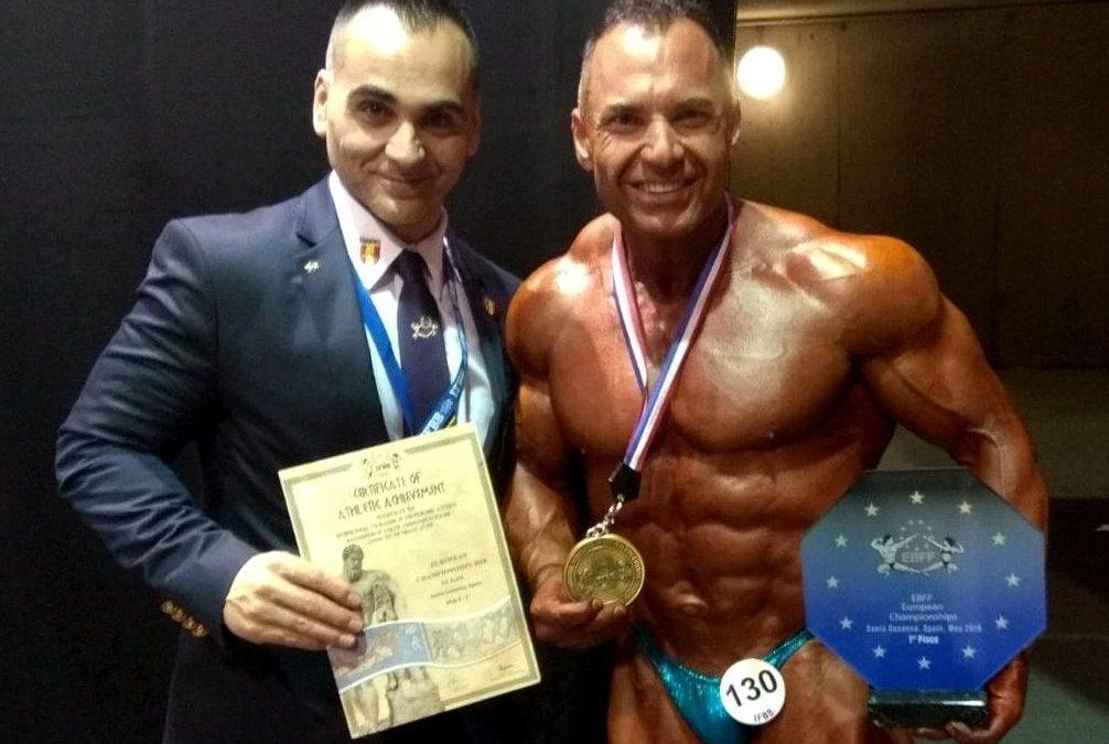 El ciezano Pedro J. Villa Campeon de Europa en la modalidad Master +50