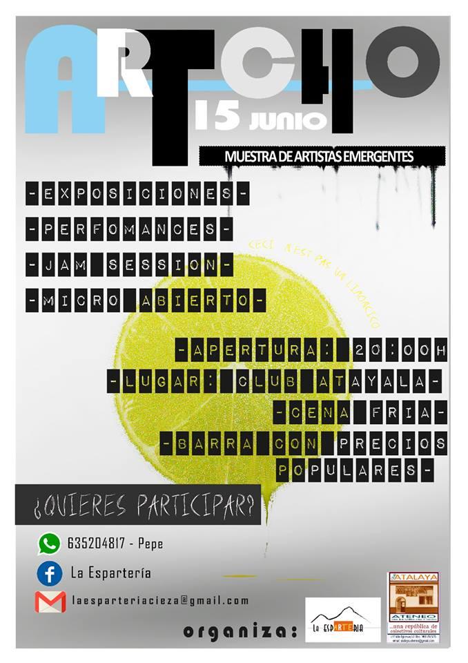 Cartel presentación de la actividad organizada por la Esparterïa en Cieza.