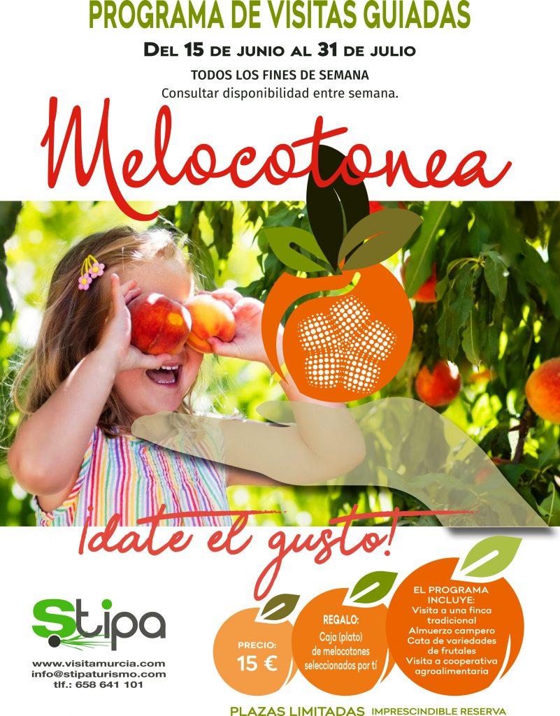 Cartel del proyecto Melocotonea que dará a conocer el melocotón en Cieza.