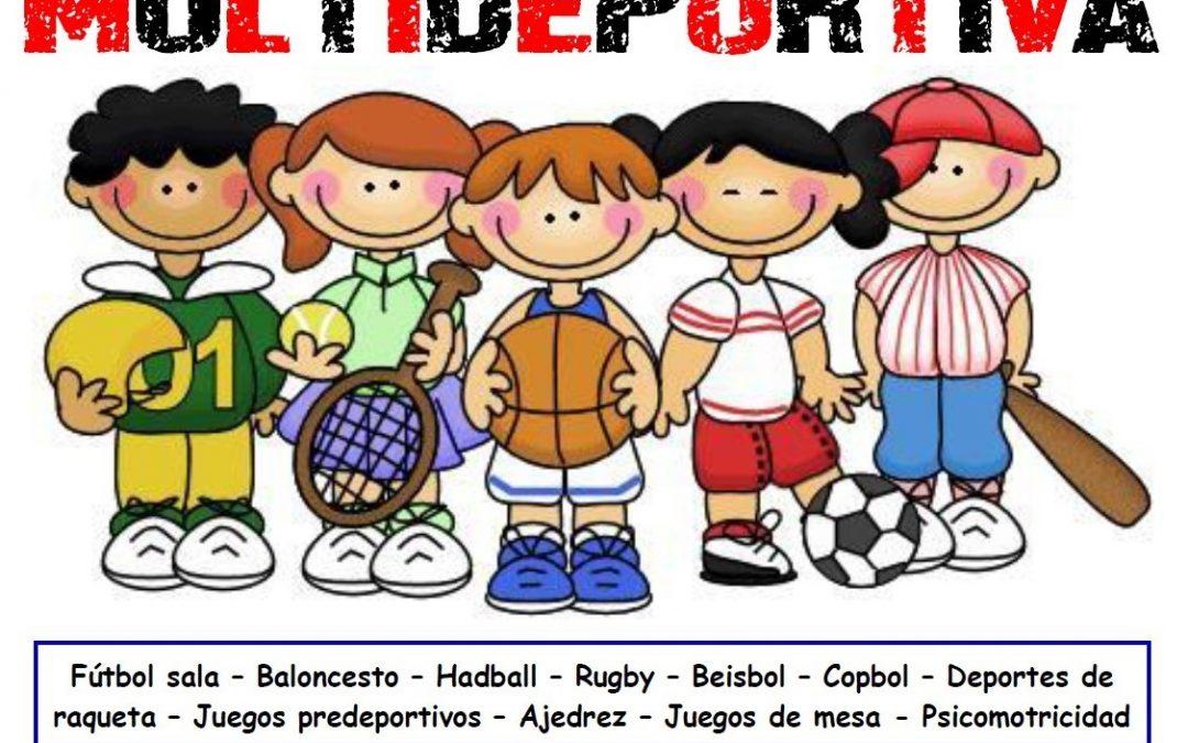 Escuela de Verano Multideportiva en el Pabellón Juan José Angosto