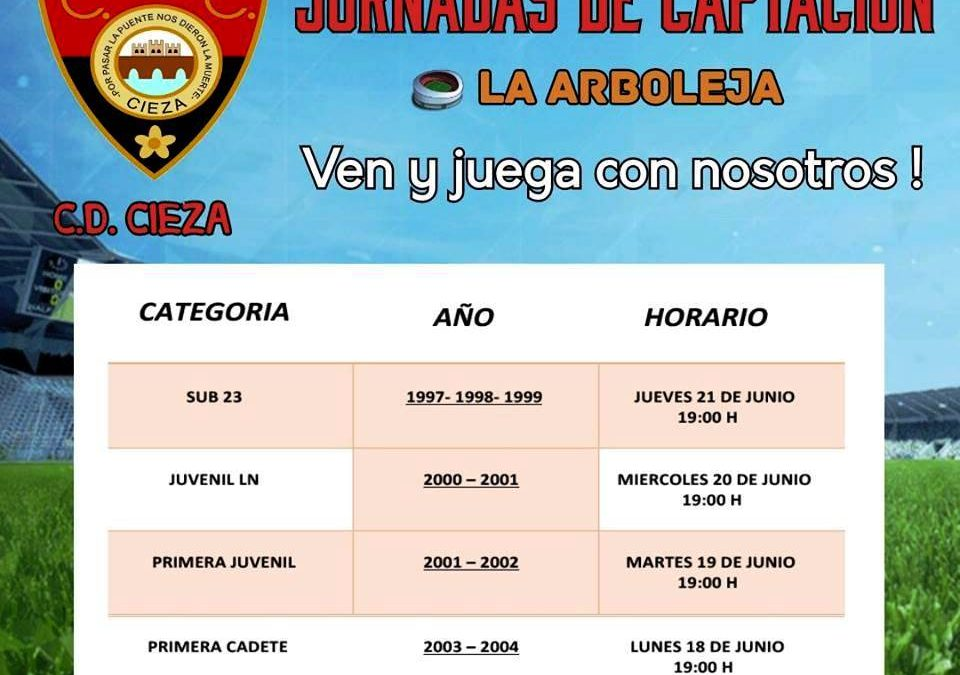 El Club Deportivo Cieza lanza unas jornadas de captación de jugadores