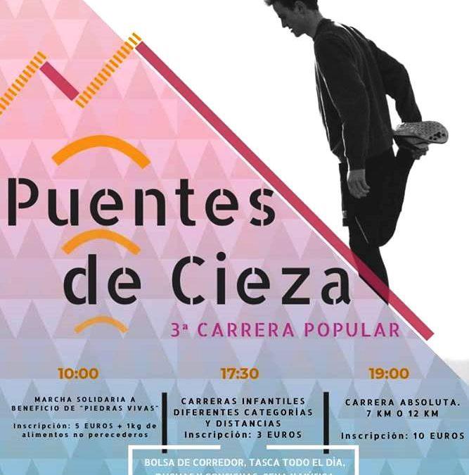 """Abierto el plazo de inscripción para la III Carrera Popular """"Los Puentes de Cieza"""""""