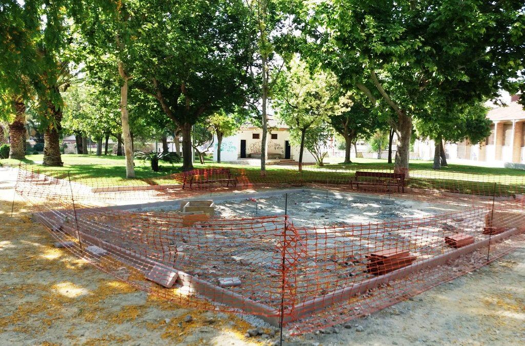 Las obras del Parque Príncipe de Asturias de Cieza continúan a buen ritmo