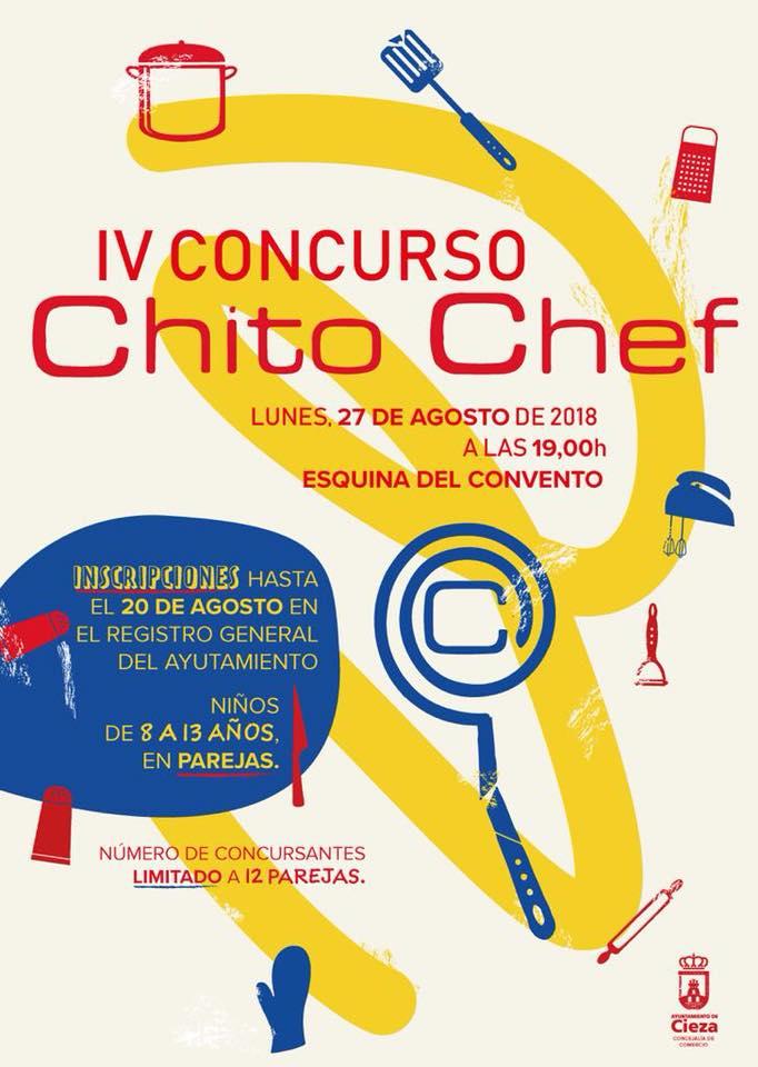 Cartel con la información del Concurso Chito Chef en Cieza.