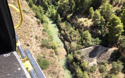 Un hombre es rescatado por los servicios de emergencias mientras realizaba senderismo en el Cañón de Almadenes
