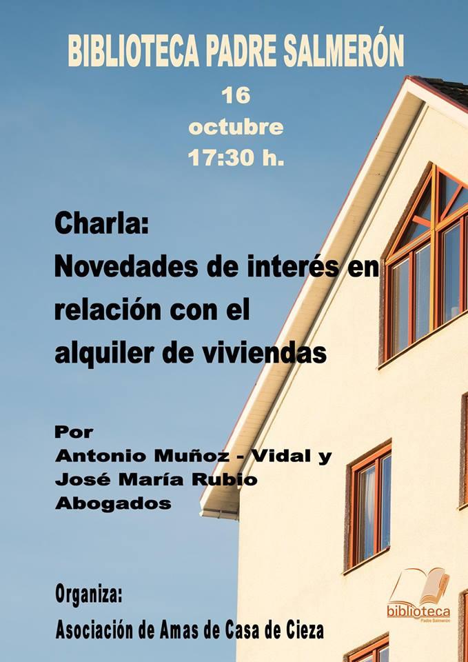 Imagen del Cartel de la charla de la asociación de Amas de Casa de Cieza.