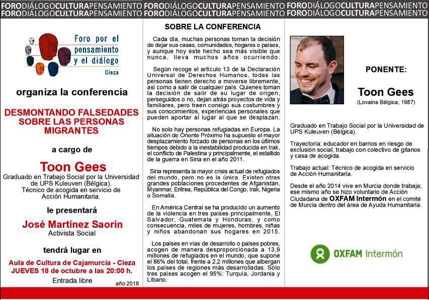 """Conferencia: """"Desmontando falsedades sobre las personas migrantes"""""""
