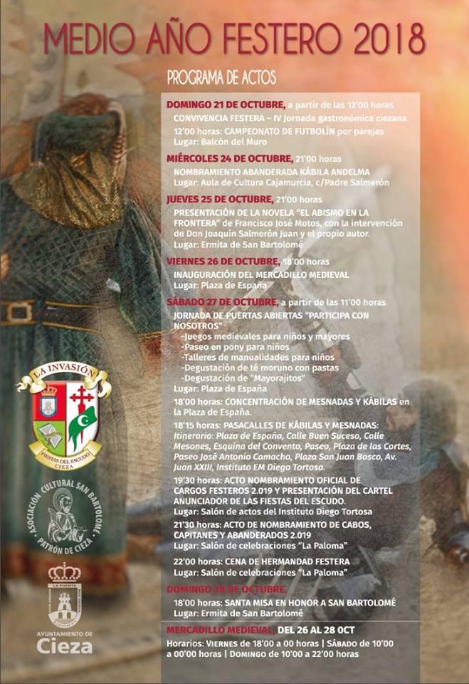 Cartel del Medio Año Festero de Cieza.