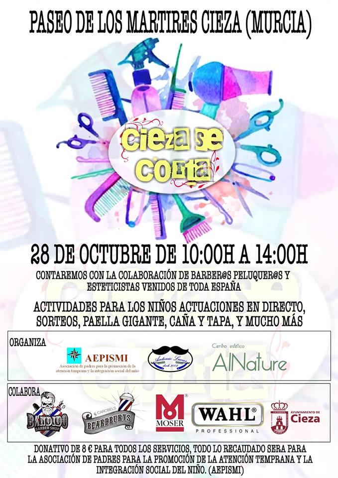 Imagen del Cartel del acto solidario Cieza Se Corta.