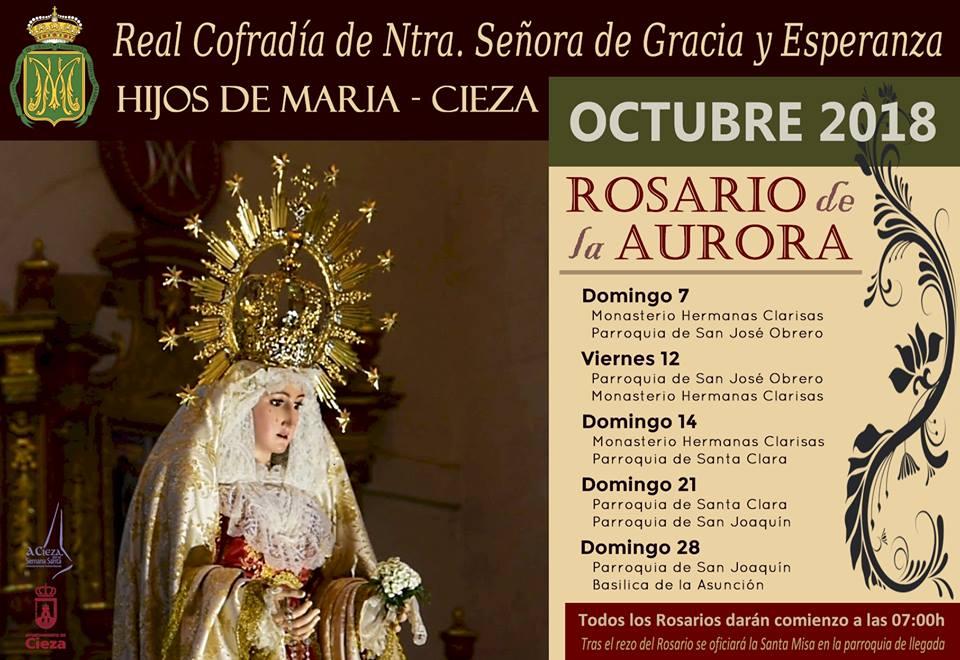 Nuevo 'Rosario de la Aurora' de la Cofradía de Nuestra Señora de Gracia y Esperanza de Cieza