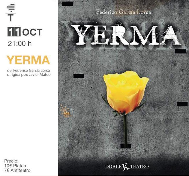 'Yerma', de Federico García Lorca llega este jueves 11 al Capitol
