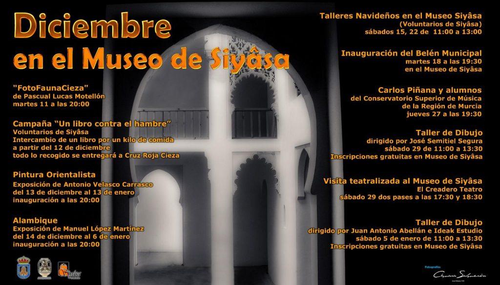 Programa de Actividades de Navidad en el Museo de Siyâsa en Cieza.