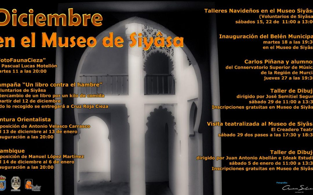 Programa de actividades previstas para esta Navidad en el Museo de Siyâsa