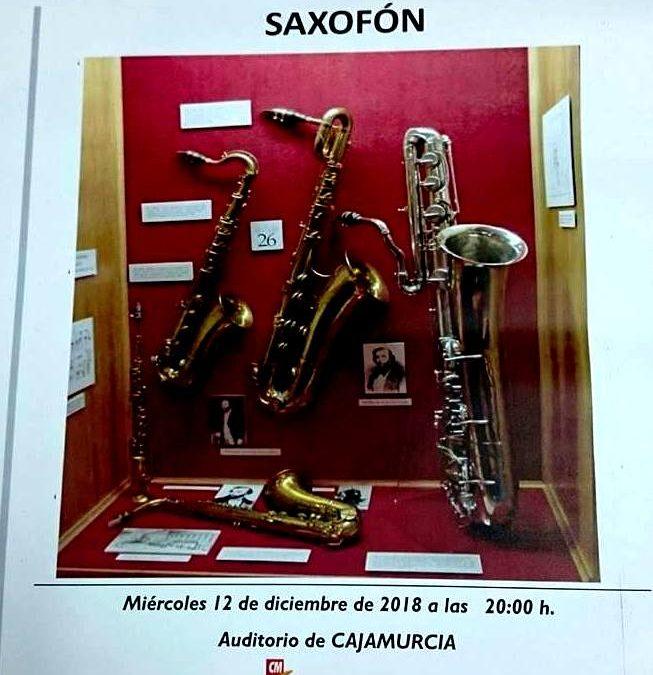 Audición de alumnos de saxofón en el Aula de Cultura de la Fundación Cajamurcia en Cieza