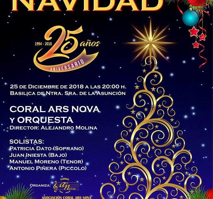 Concierto de Navidad de la Coral Ars Nova, cumpliéndose este año su 25 Aniversario