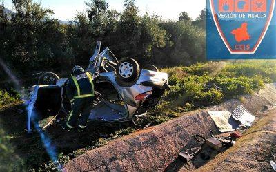 Servicios de emergencia confirman el fallecimiento de una mujer de 24 años en accidente de tráfico con atrapados ocurrido en la autovía A-30 en Cieza