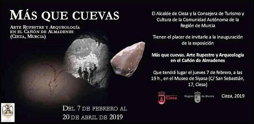 """La exposición """"Más Que Cuevas. Arte Rupestre y Arqueología en el Cañón de Almadenes"""" llega a Cieza"""