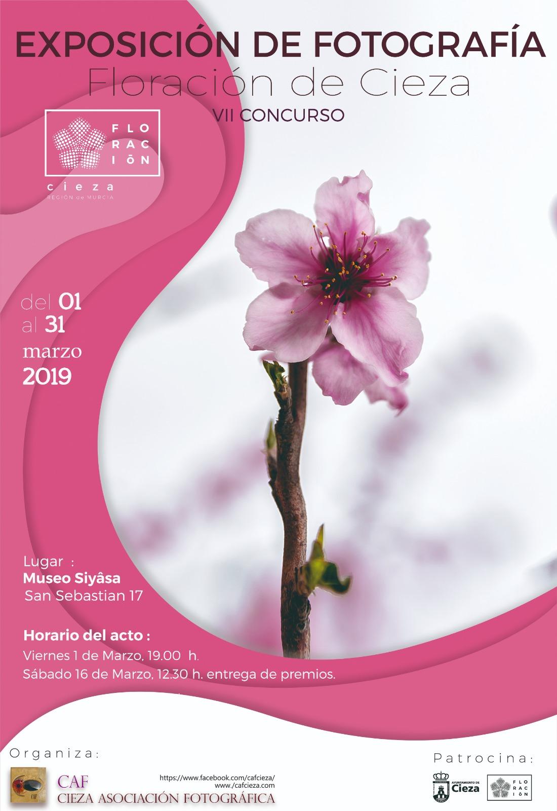 Diseño del Cartel de la exposición de fotografía Floración de Cieza.