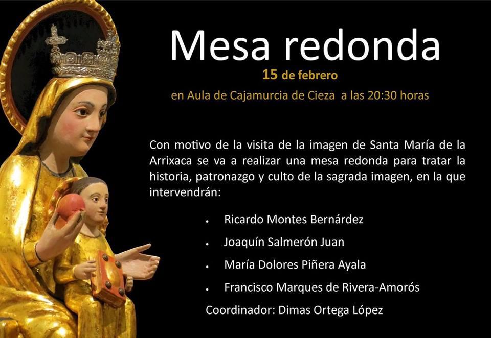 Mesa redonda con motivo de la próxima llegada de Santa María de la Arrixaca a Cieza
