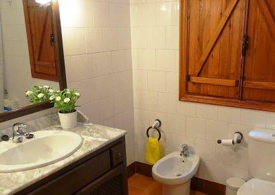Foto de uno de los cuartos de baño de la Casa Rural la Atalaya, Cieza.