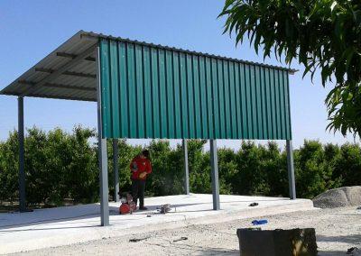 Foto de la Estructura Metálica para almacén en Cieza.