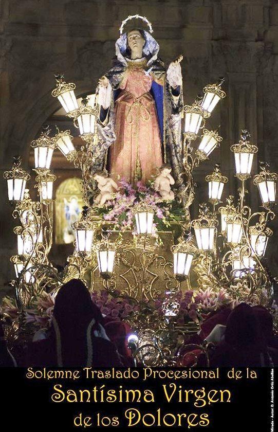 Imagen del Cartel del Traslado de la Virgen de los Dolores de Cieza