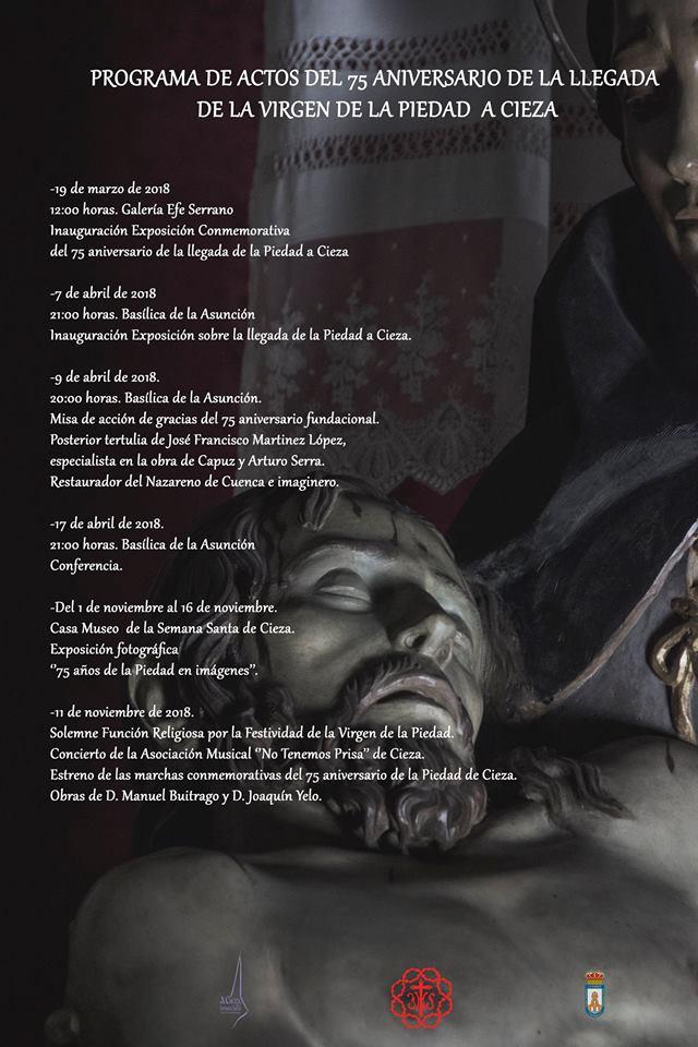 Programa de los actos del aniversario de la Piedad de Cieza.