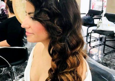 fotografía del Peinado de chica en Peluquería Ana Belén Estilistas en Cieza.