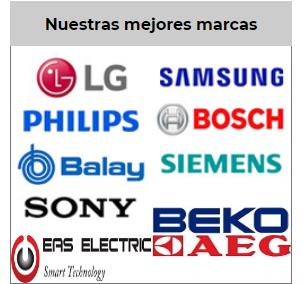 Banner de la web con los Logotipos de marcas de electrodomésticos en Cieza.