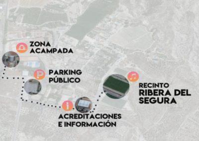 Plano general acampada del festival Ribera del Segura en Cieza.