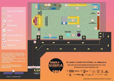 Plano orientación del festival Ribera del Segura en Cieza.