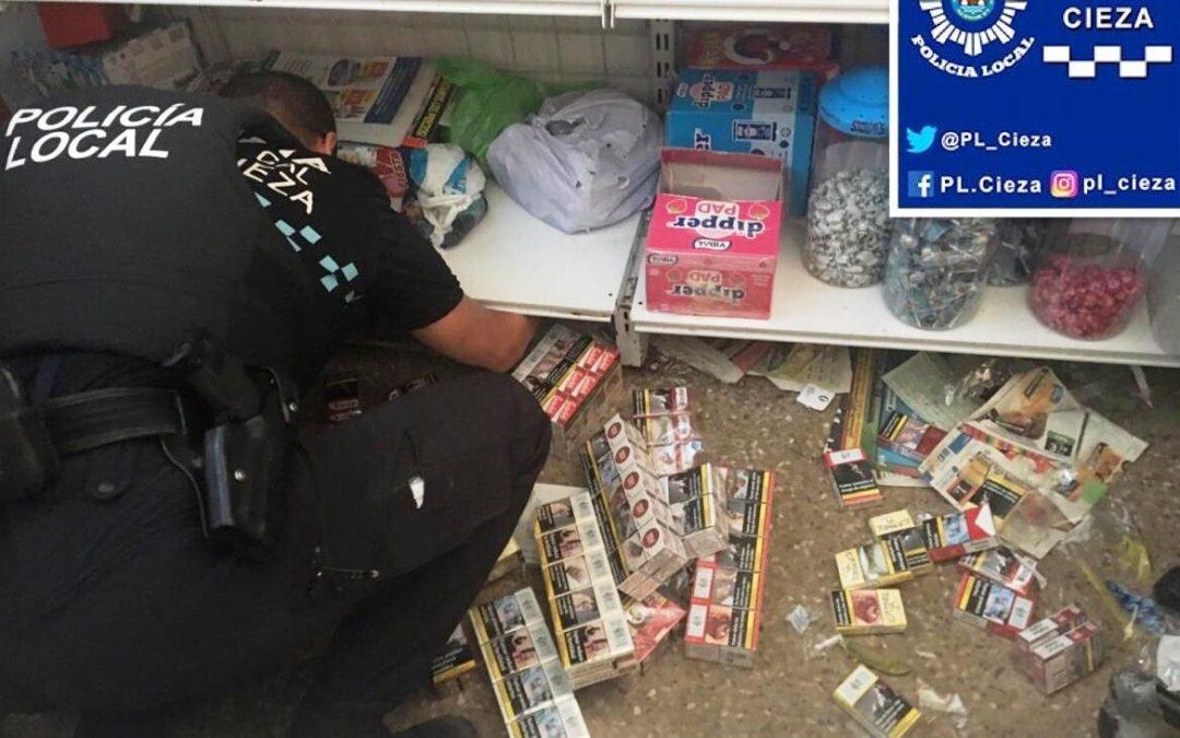 Incautadas 373 cajetillas de tabaco por la Policía Local de Cieza