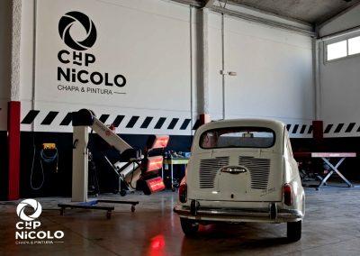 Restauración de un coche en Taller de Chapa y Pintura CHP Nicolo de Cieza.