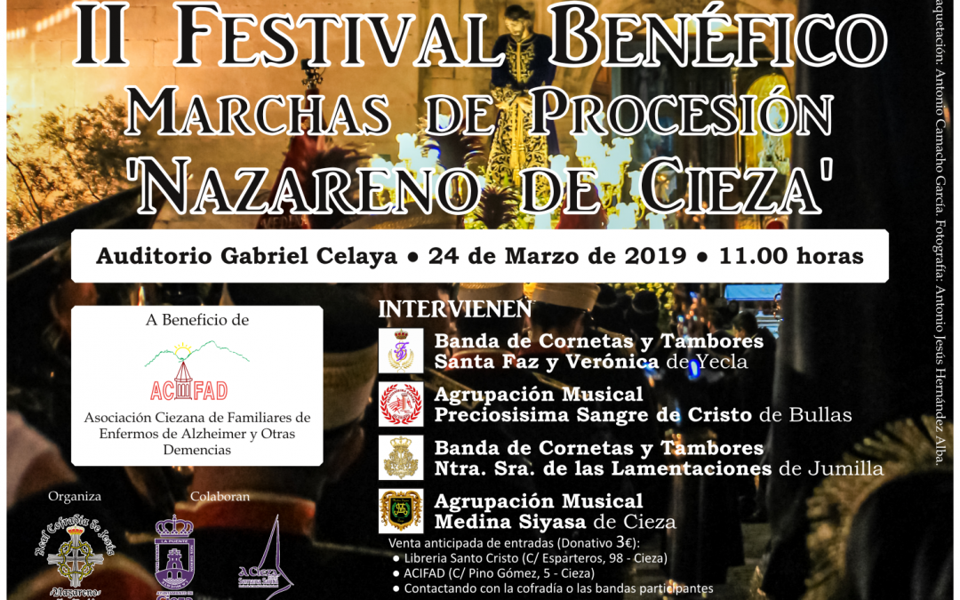 II Festival Benéfico de Marchas de Procesión 'Nazareno de Cieza'