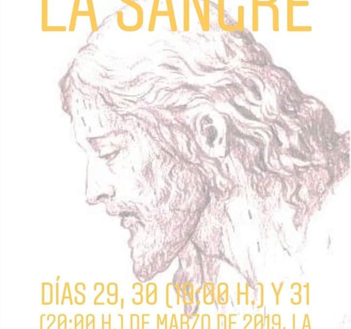 Solemne triduo en honor del Santísimo Cristo de la Sangre